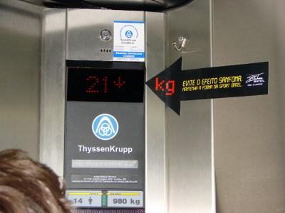 Propaganda em elevador