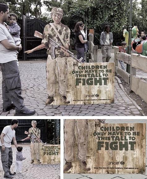 Crianças na guerra da África