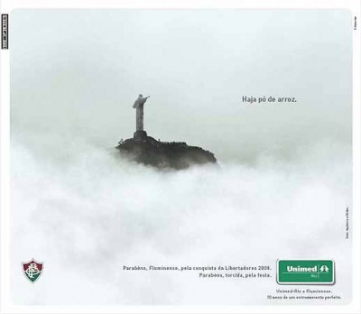 Anúncio da Unimed para o Fluminense