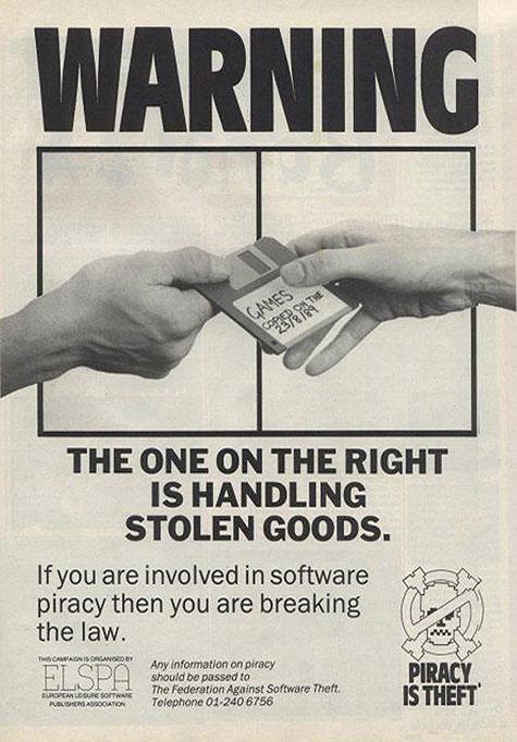 Campanha anti-pirata da década de 80