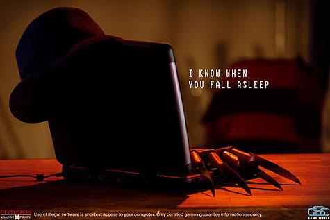 Jason, Scream e Freddy Kruger em campanha contra a pirataria de software