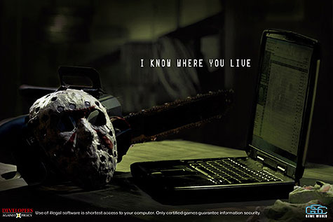 Jason, Scream e Freddy Kruger em campanha contra a pirataria de software