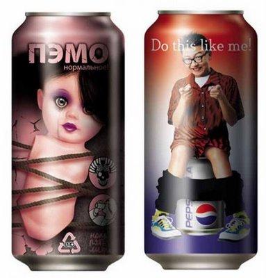 Latas de Pepsi
