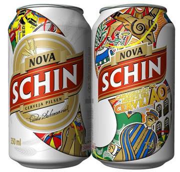 Latas temáticas da Nova Schin no Carnaval de Olinda