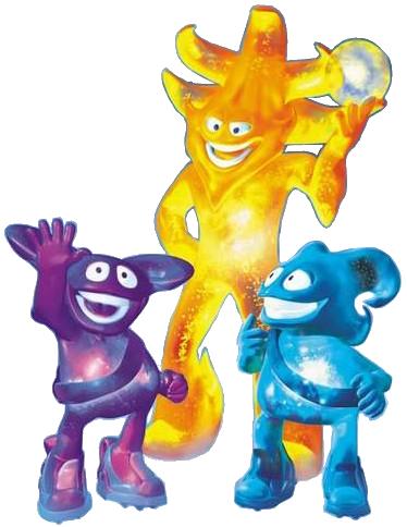 Mascotes Ato Nik and Kaz 2002