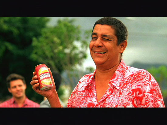 Zeca Pagodinho no novo comercial da Brahma