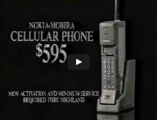 Comercial dos anos 80 para celulares