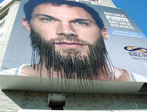 Outdoor interativo faz barba crescer a cada curtida no Facebook