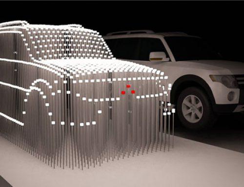 Mitsubishi Pajero Full em led na SP Arte