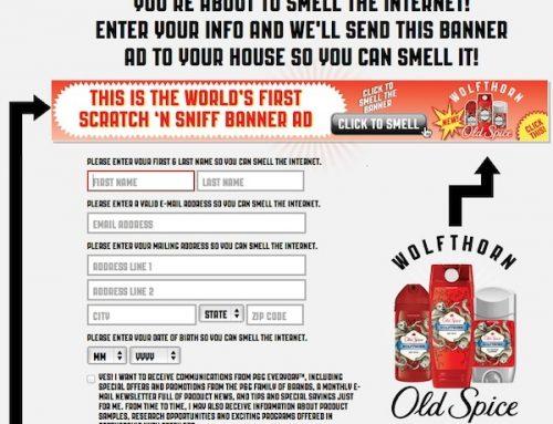 Banner online com cheiro