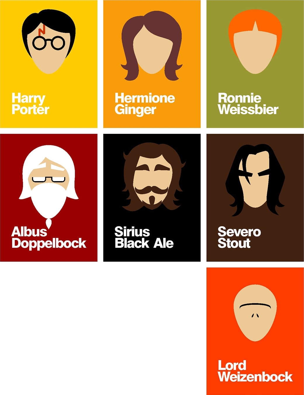 Design Minimalista Harry Potter