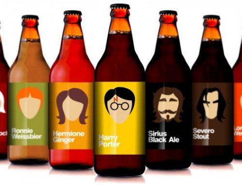 Rótulos para a cerveja amanteigada de Harry Potter