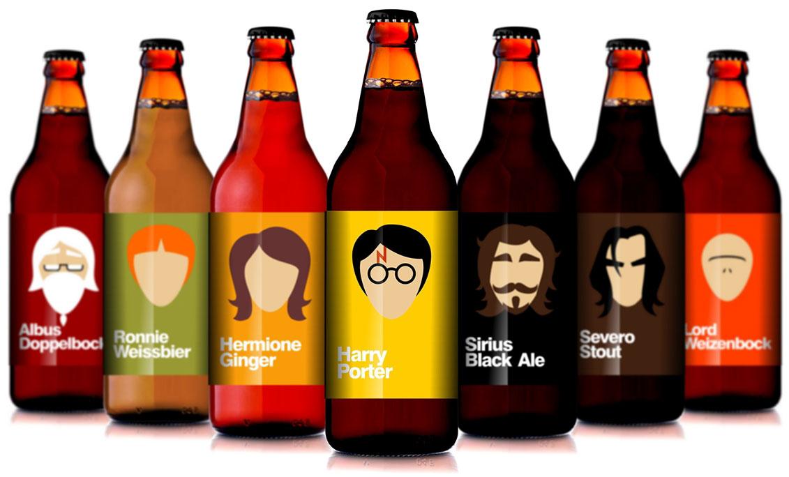Rótulo Embalagem Garrafa da Cerveja Amanteigada Harry Potter