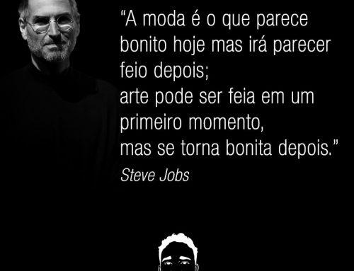 Frase de Steve Jobs sobre moda e arte