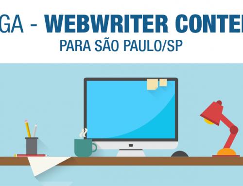 Vaga | Webwriter Content para São Paulo