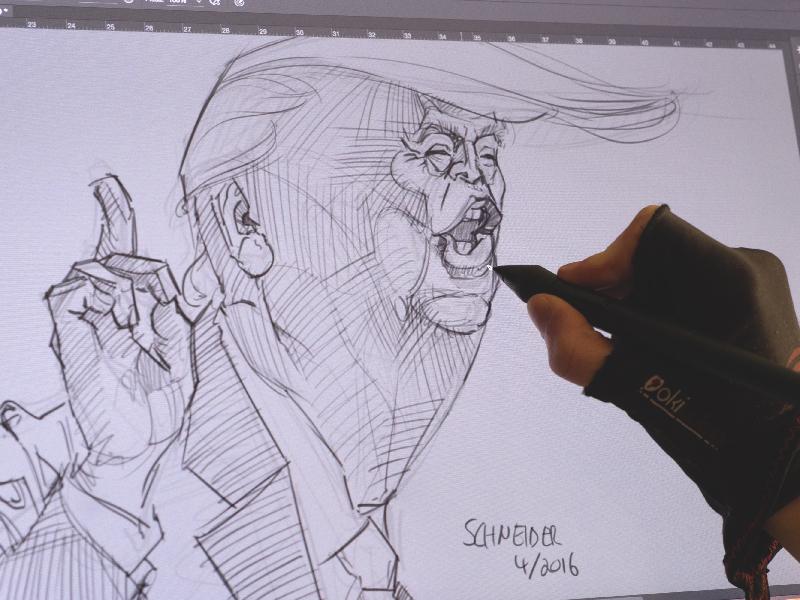 Caricatura de Donald Trump porMartin Schneider
