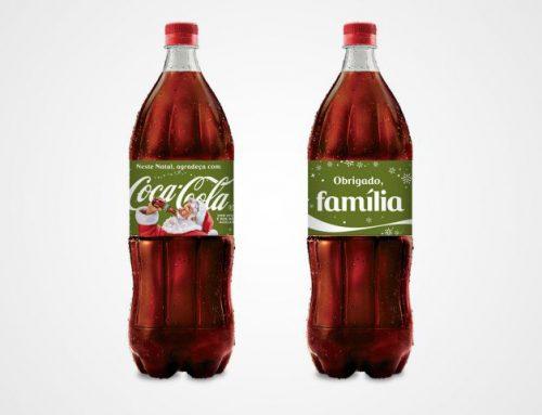 Natal da Coca-Cola tem garrafas com mensagem de gratidão