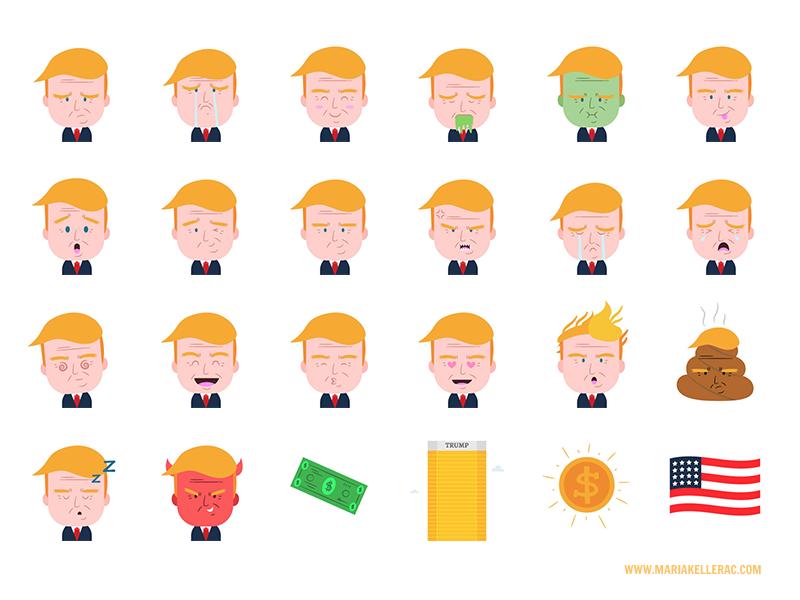 Trump Emojis porMariaKeller