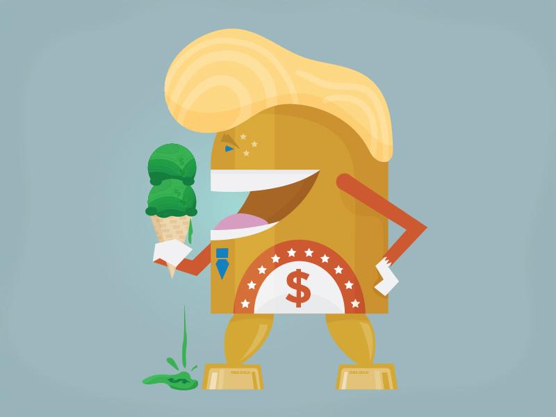 Trump Portrait porErin
