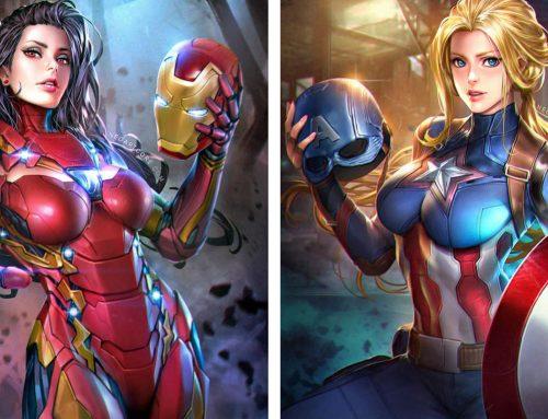 Versões femininas do Homem de Ferro e do Capitão América