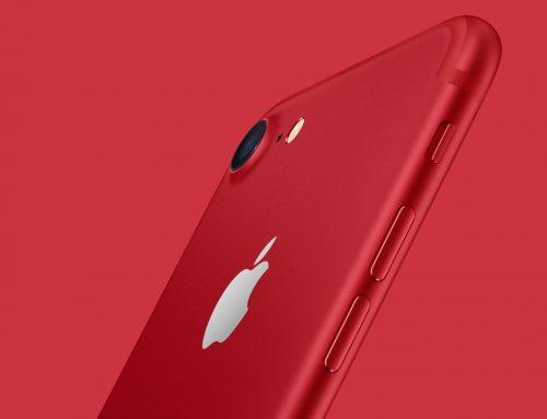 iPhone 7 vermelho contra a Aids