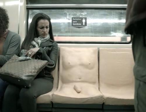Metrô mexicano coloca pênis nos assentos