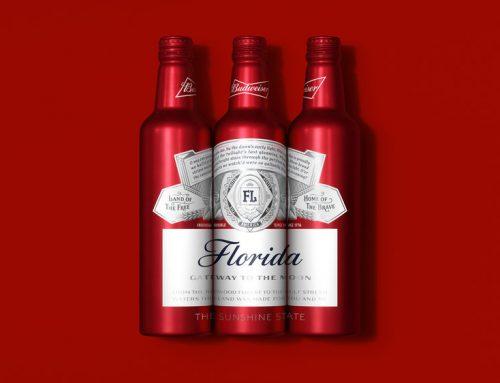 Novas embalagens de alumínio da cerveja Budweiser
