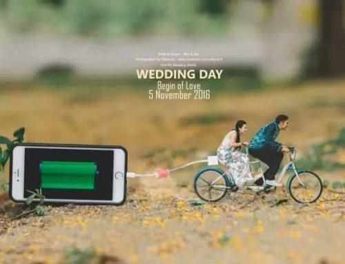 Ideia para noivos | Sessão fotográfica hiper-realista em miniaturas criativas