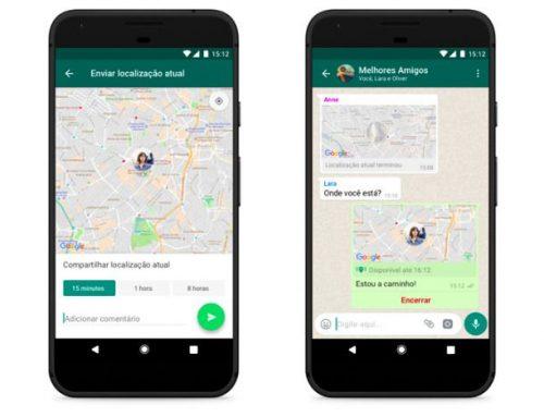 WhatsApp lança o compartilhamento de localização em tempo real