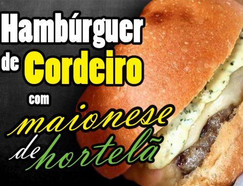 Hambúrguer de Cordeiro com Maionese de Hortelã