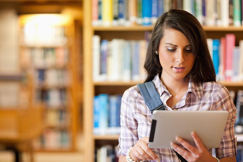 Dicas de estudo Menina iPad