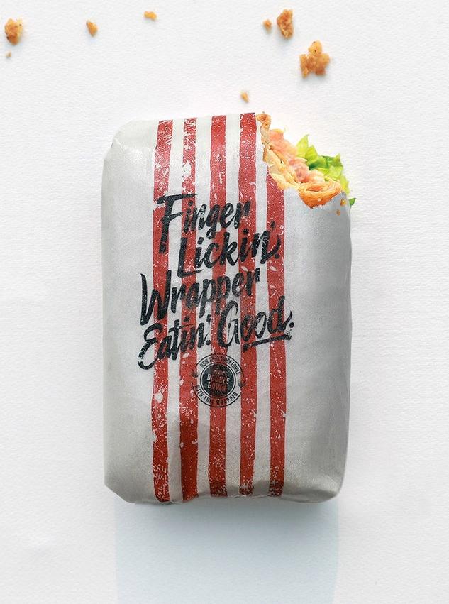 Wrapper KFC em embalagem comestível