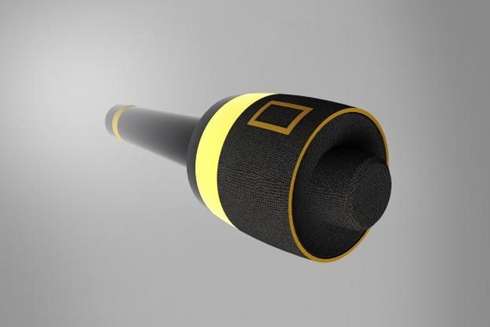 Microfone para entrevistas com detector de mentiras