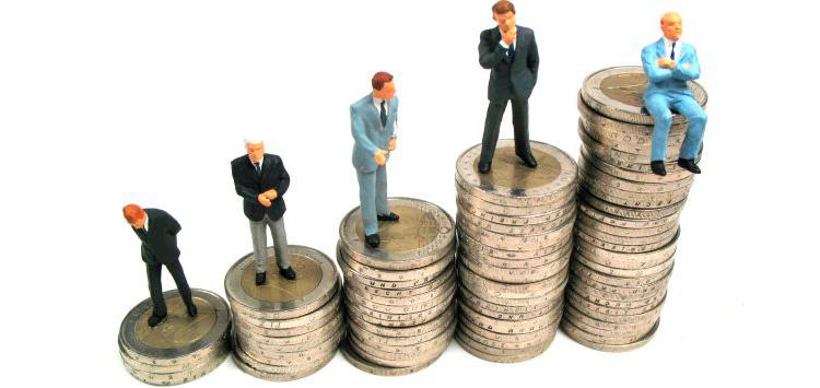 Imagem conceitual para mostrar salários de gerentes no Brasil. Infográfico conceitual em forma de moeda.