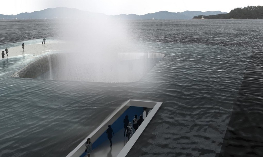 Imagem conceitual de profissão do futuro arquiteto de águas
