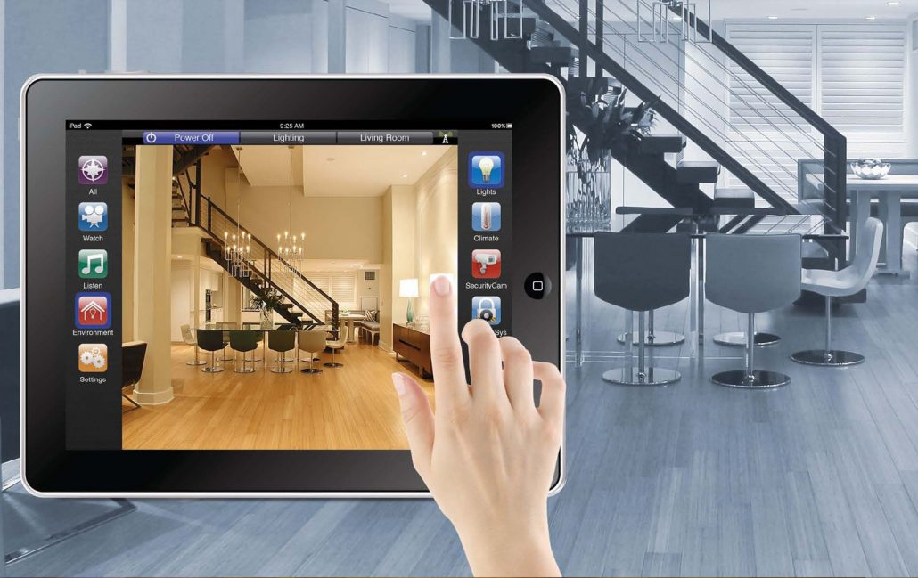 iPad controlando a casa através de app