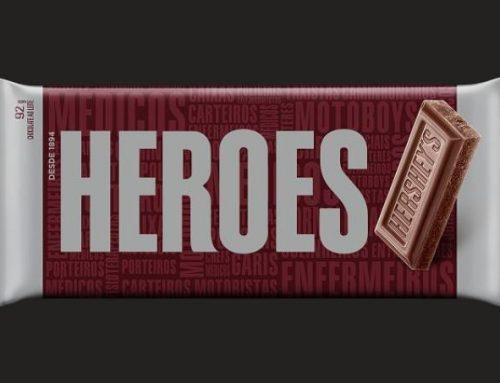 Homenagem aos profissionais da saúde nas embalagens de Hershey's